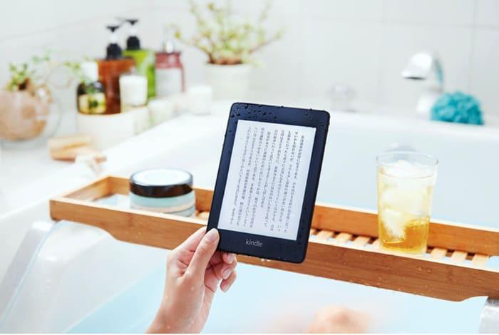 お風呂でKindleを読む