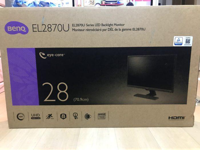 BENQ EL2870Uの箱