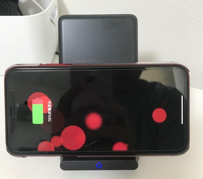 Anker PowerWave 10 StandでiPhone11を横向きに充電