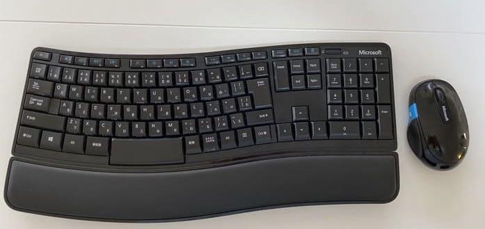 人間工学のキーボード