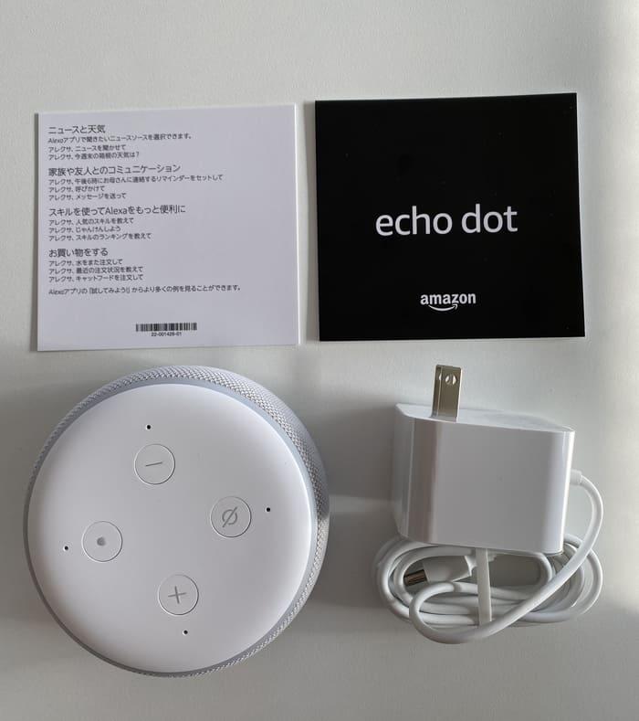 Echo Dotの同梱品