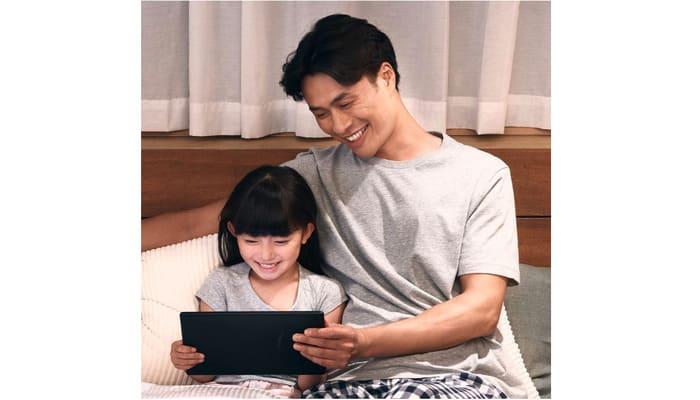 Fire HD 10を使う家族
