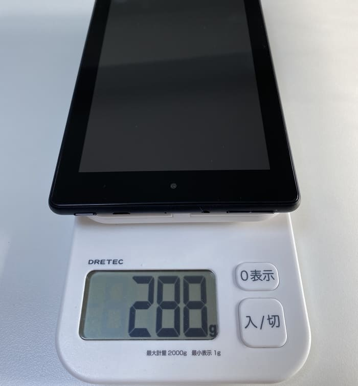 Fire 7タブレットの重さ