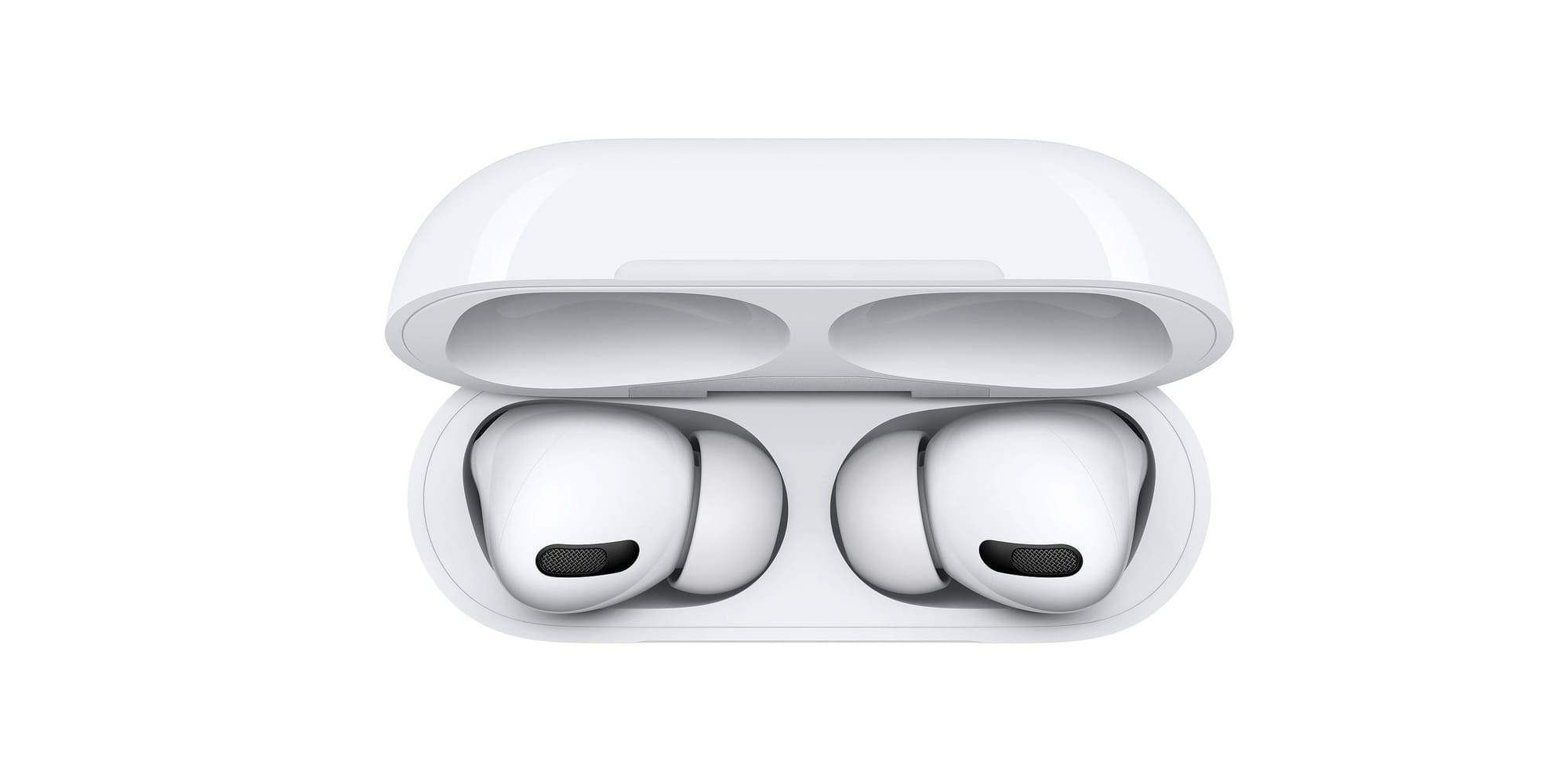 AirPods Proを上部から見た時