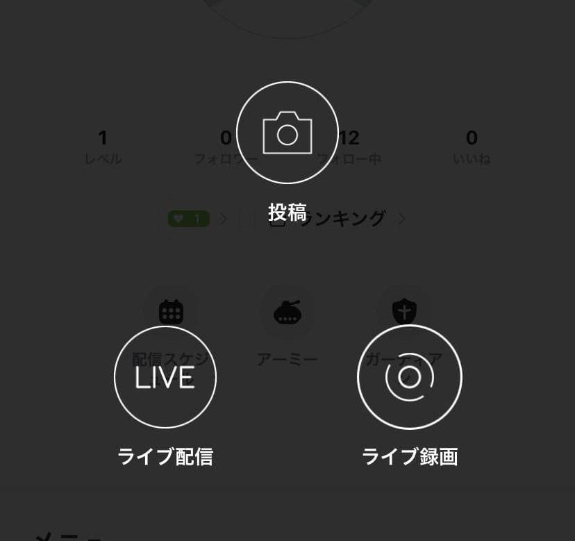 17LIVEの投稿画面
