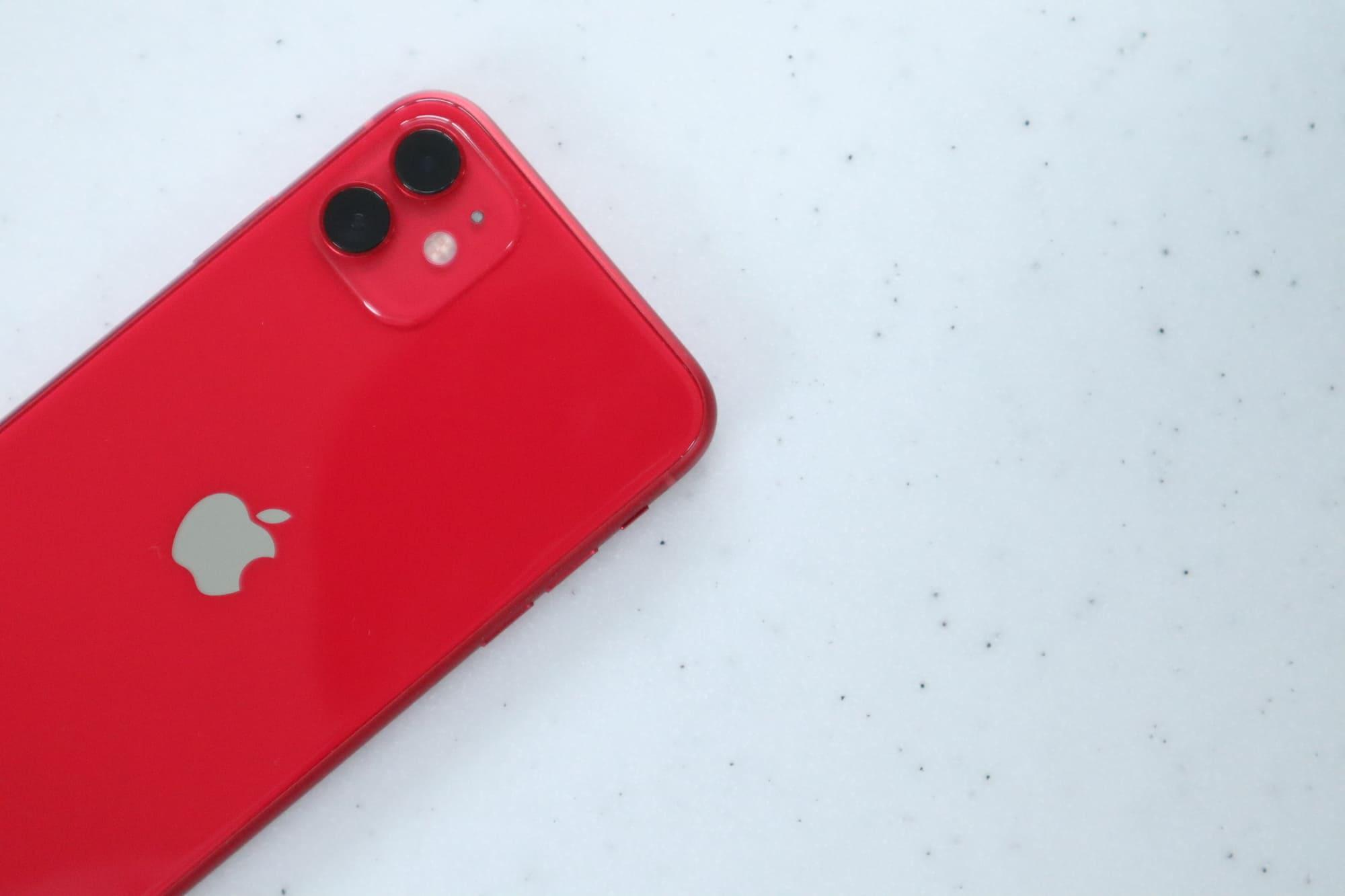 iPhone11と大理石