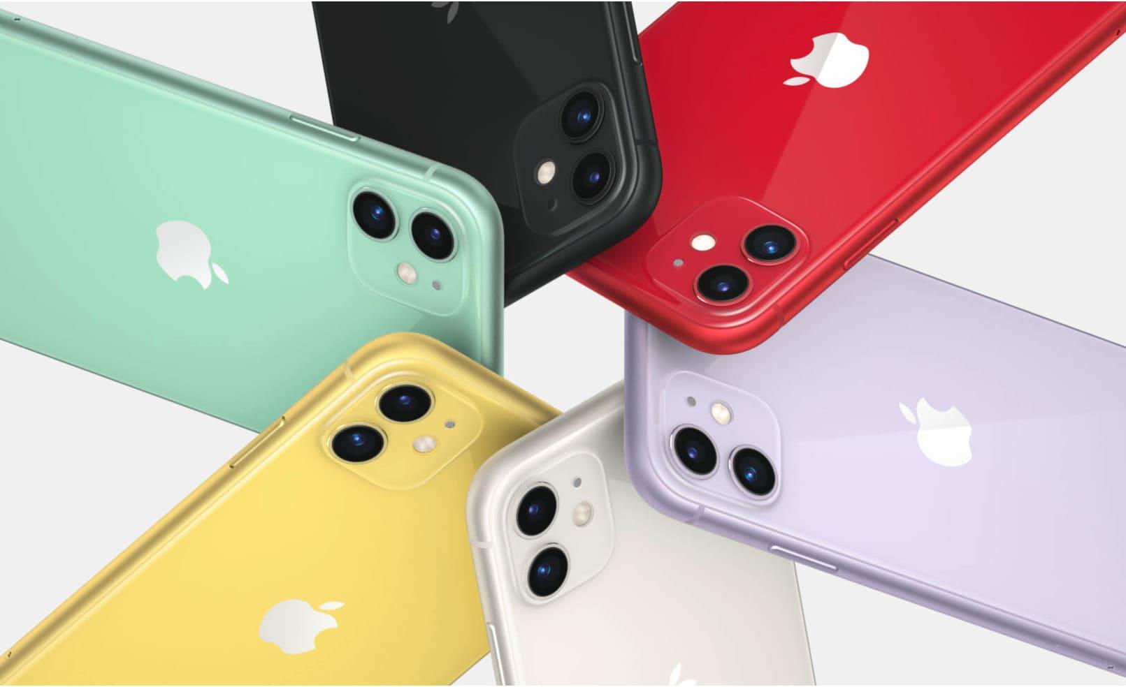 iPhone11のカラーバリエーション