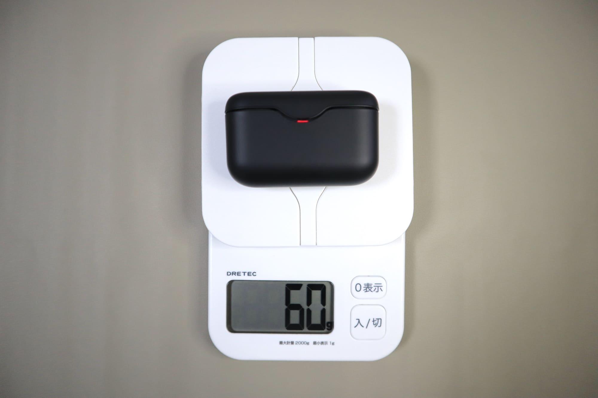 WF-H800の重さ