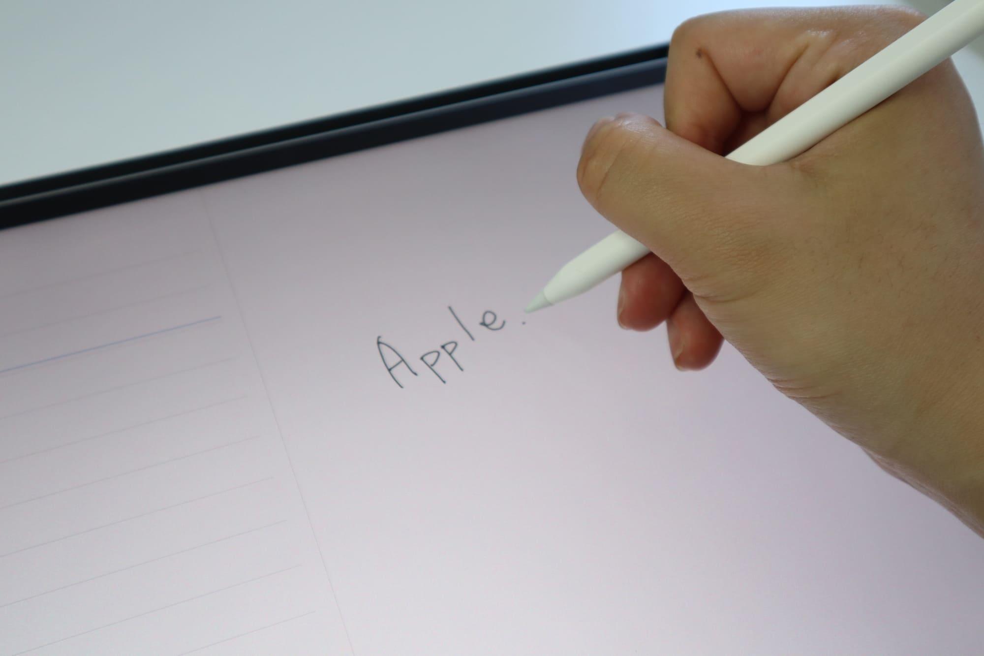 Apple Pencilでメモ書き