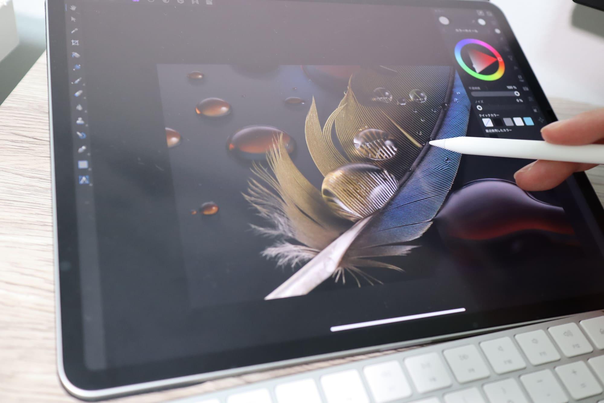Apple Pencilを使って画像編集
