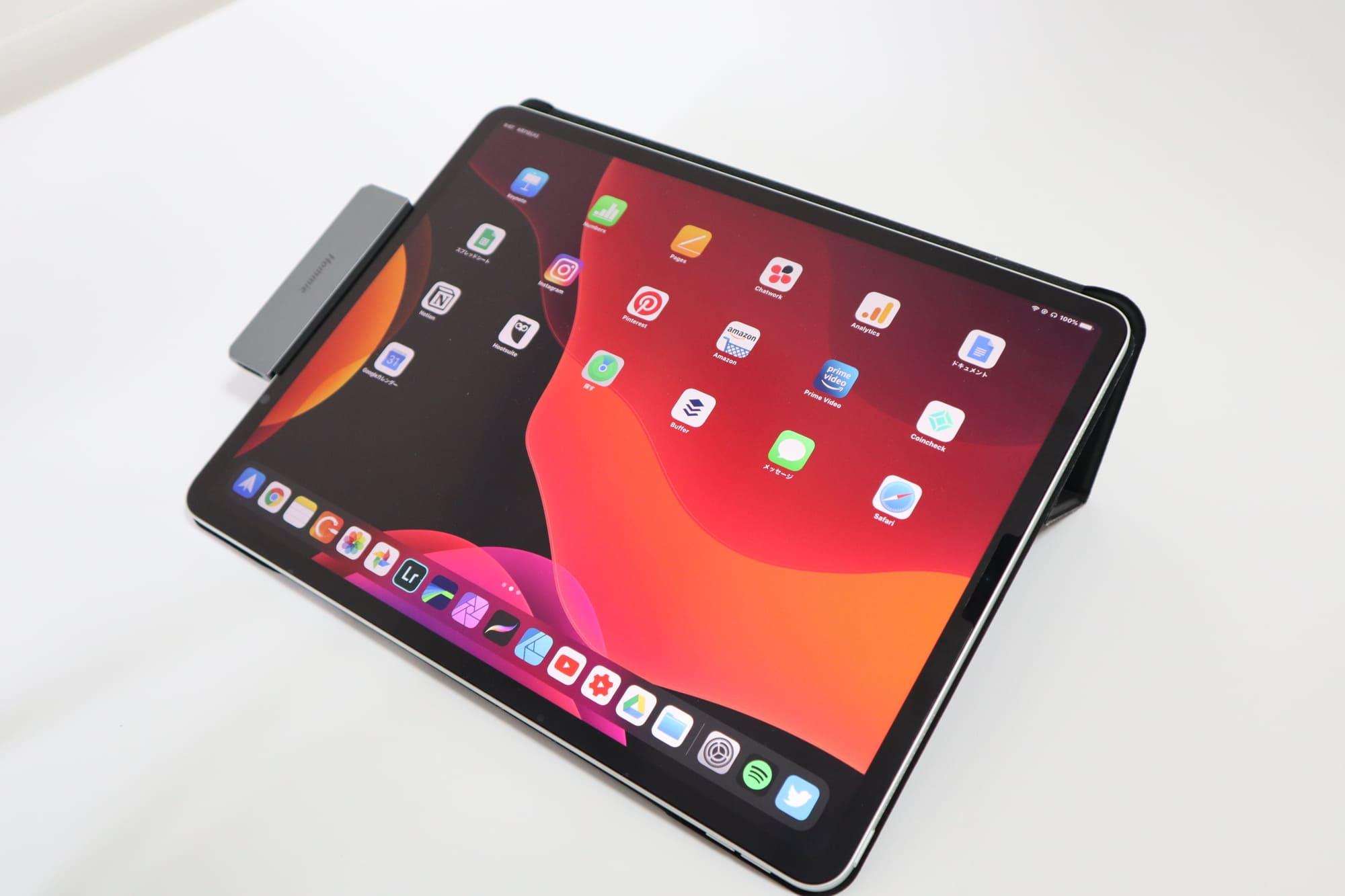 iPadとHommie Type-C モバイル ハブ ドッキングステーションの接続