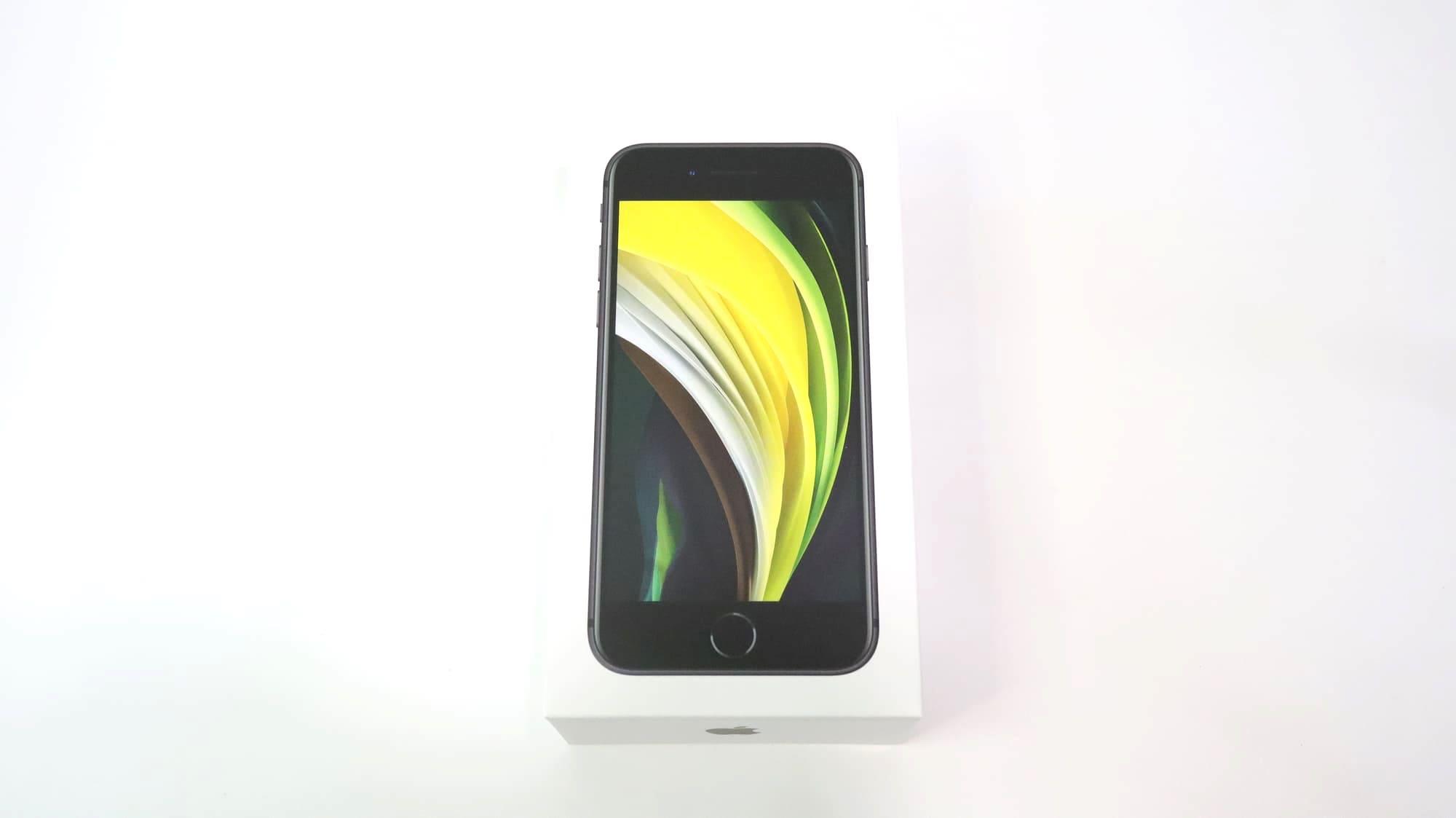 iPhone SEの外箱