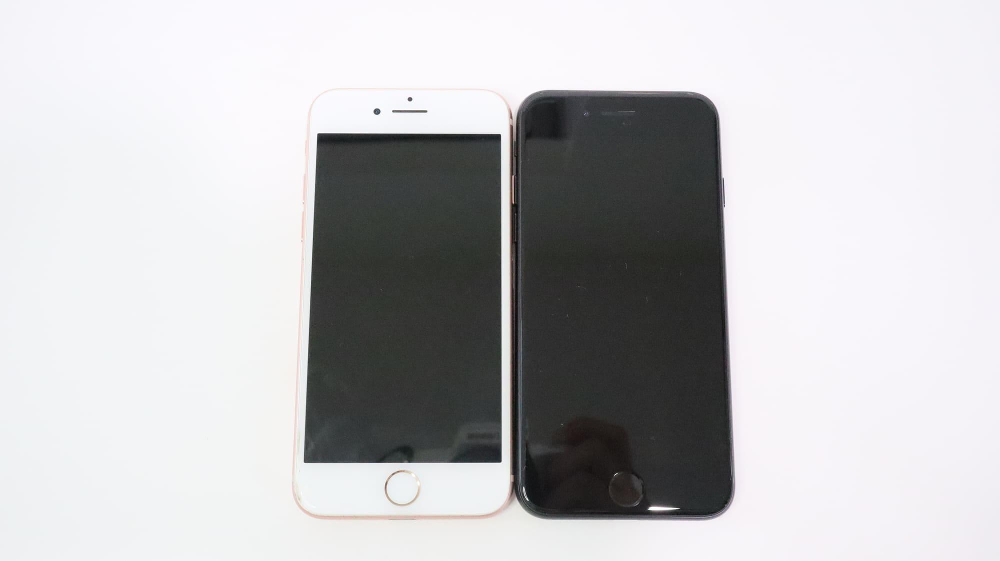 iPhone 8とiPhone SE