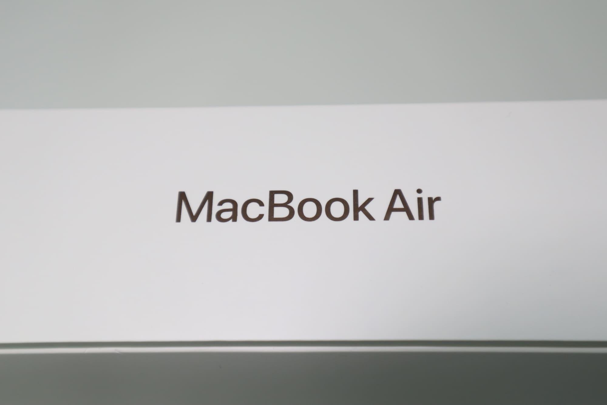 MacBook Airの同梱品