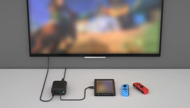 SuperHub SEで任天堂Switchをテレビ出力