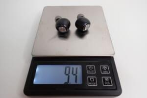 AVIOT TE-D01gvイヤホン単体の重さ